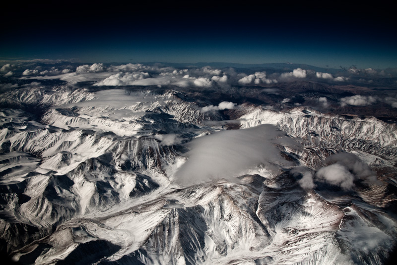 Andes e nuvens, Chile