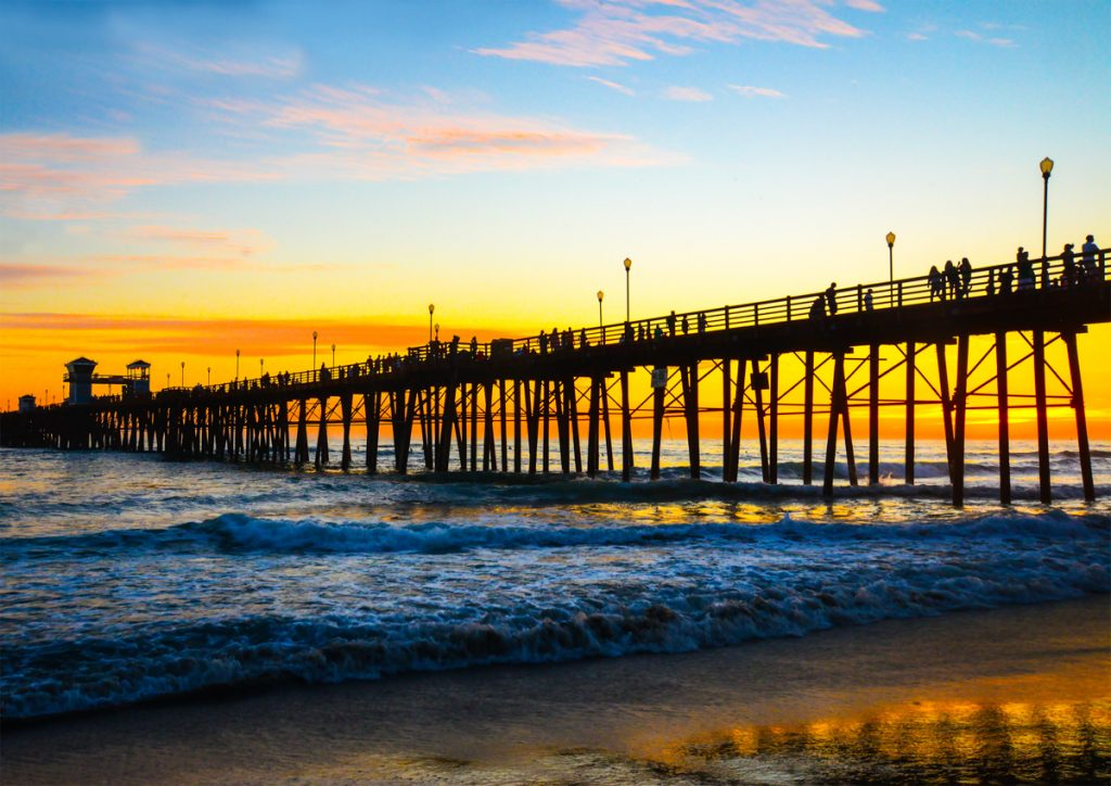 Oceanside Beach Pier, Califórnia - EUA